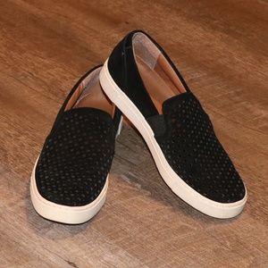 Frye & Co. Peggy Perf Suede Slip On Black Sneakers